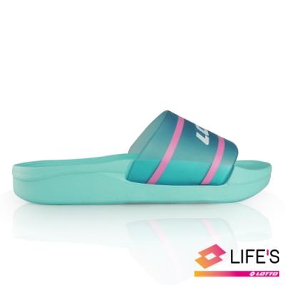 LOTTO 義大利 Highlight 兒童拖鞋 (粉藍)