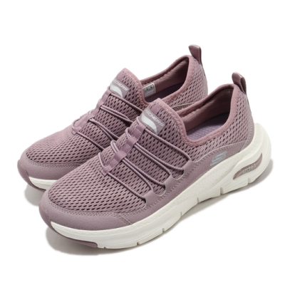 Skechers 休閒鞋 Arch Fit 運動 健走 女鞋 足科醫生推薦鞋墊 回彈 避震 透氣 紫 白 149056LAV