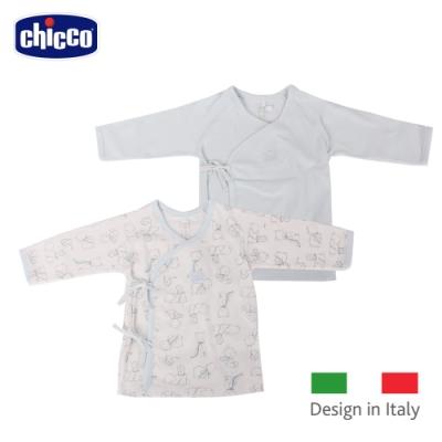 chicco-印花肚衣2入-藍