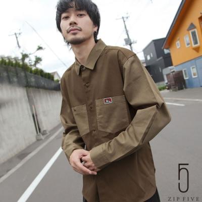 ZIP日本男裝 BEN DAVIS異色拼接工裝襯衫(3色)