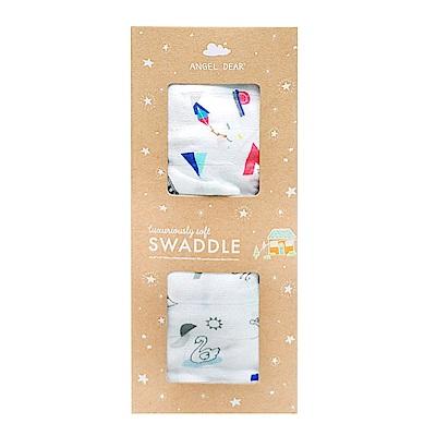 美國 Angel Dear 竹纖維嬰幼兒包巾禮盒 (動物字母世界)