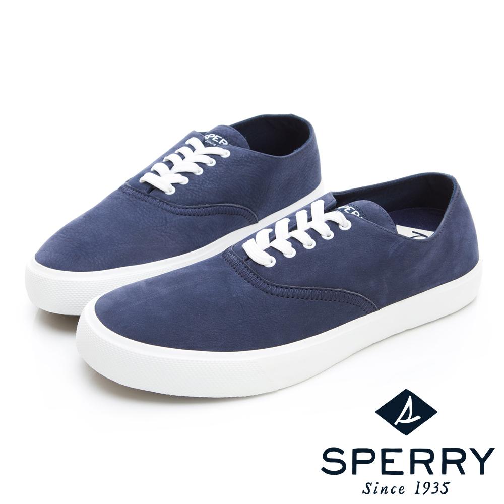 SPERRY 玩色魅力輕量牛皮休閒鞋(男)-深藍