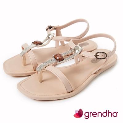 Grendha 時尚女王寶石涼鞋-米白