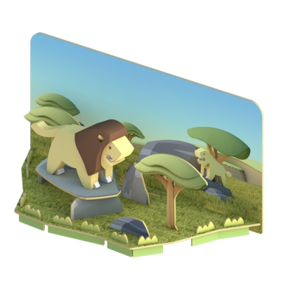 【HALFTOYS 哈福玩具】3D動物樂園:LION 獅子 STEAM教育玩具