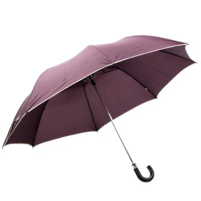 樂嫚妮 超大自動開折四人用彎把雨傘/分享傘/145cm傘面-紫