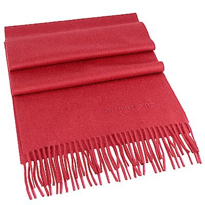 BURBERRY 桃紅色經典 100 %喀什米爾羊毛圍巾