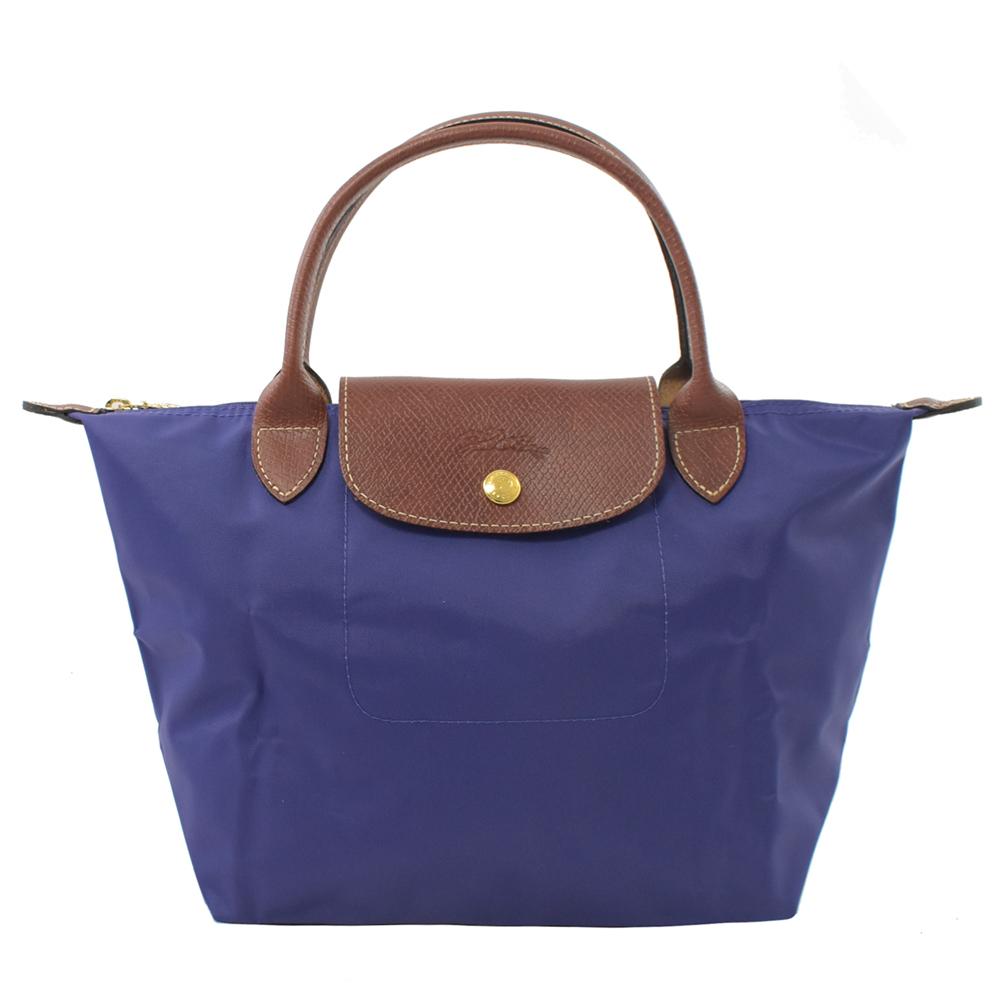 LONGCHAMP Le Pliage Nylon尼龍短把手提包(紫/S)LONGCHAMP