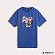 Hang Ten-Charlie Brown-男裝棒球圖樣印花T恤-藍 product thumbnail 1