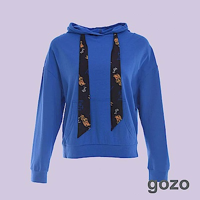 gozo 80年代復古繡花汽車帽T(二色)
