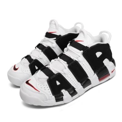 Nike 休閒鞋 Air More Uptempo 女鞋 大AIR 氣墊 復刻 運動 球鞋 大童 白 黑 415082105