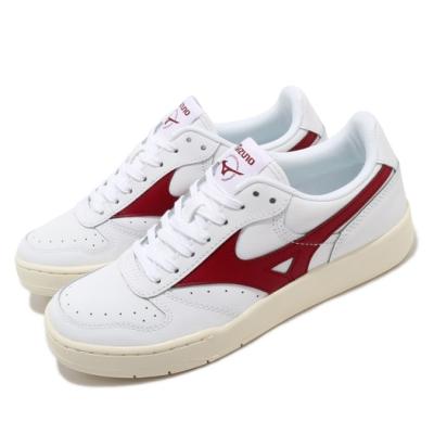 Mizuno 休閒鞋 City Wind 復古 男女鞋 美津濃 皮革鞋面 情侶穿搭 基本款 白 紅 D1GA191763