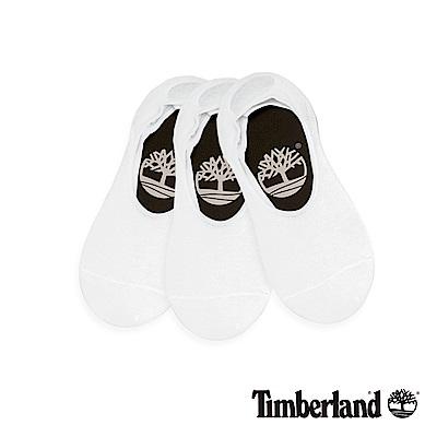 Timberland 情侶款白色船形襪(3入)|A1EB1