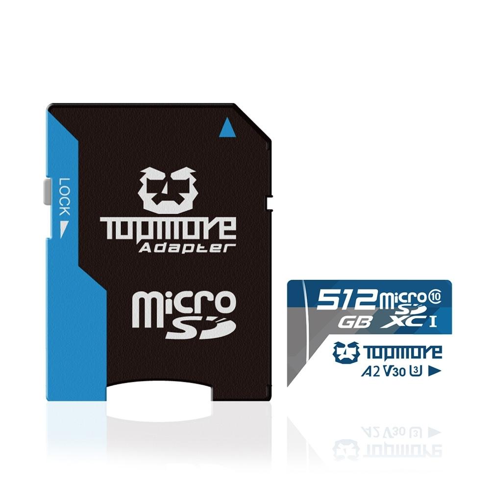達墨 TOPMORE 512GB MicroSDXC UHS-I U3 A2 V30 Class10 記憶卡