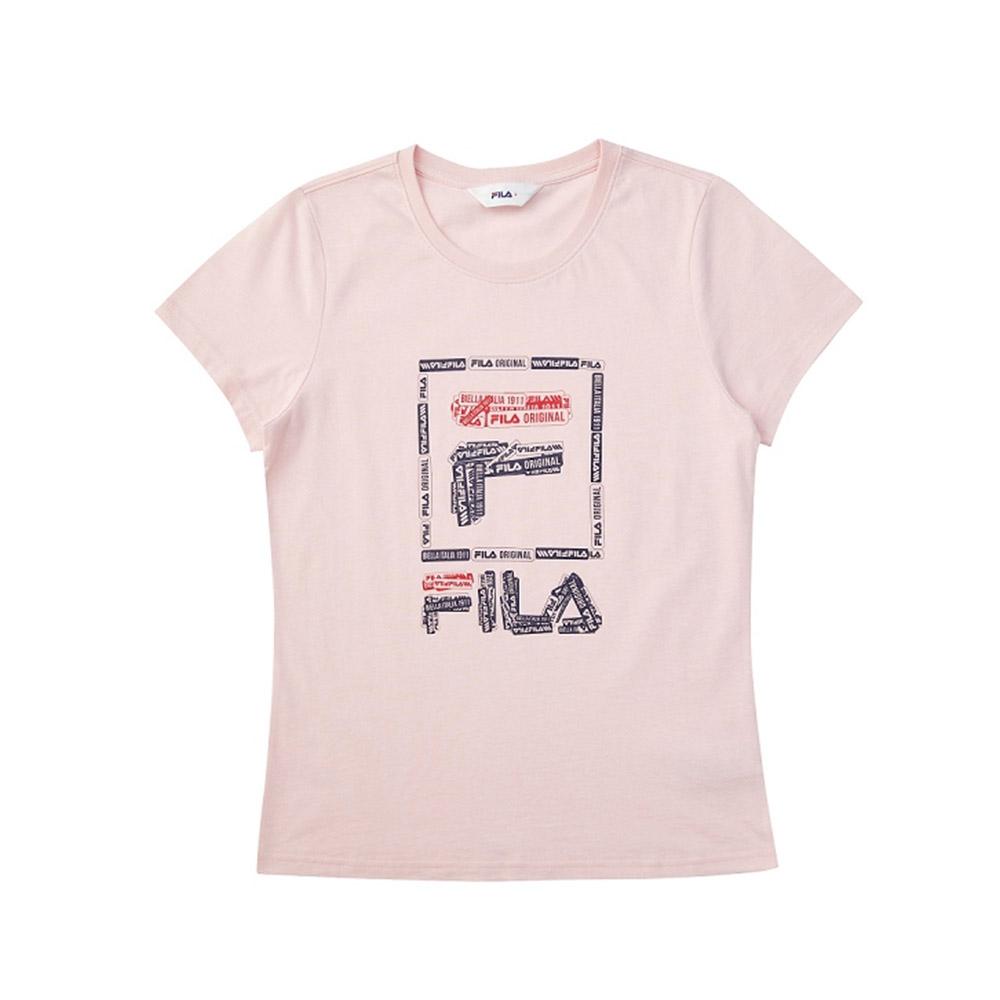 FILA 女短袖圓領T恤-粉色 5TEV-1521-PK