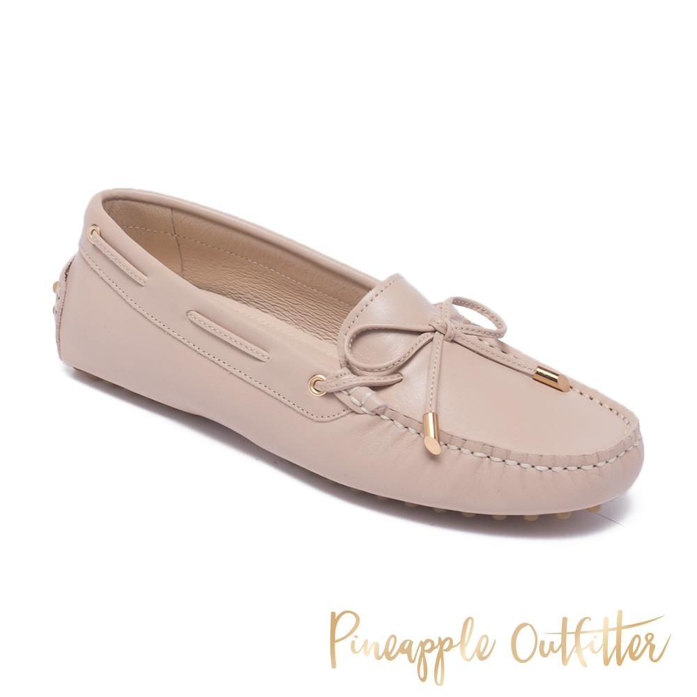 Pineapple Outfitter-EFFIE 真皮舒適休閒平底鞋-米杏