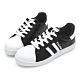 PLAYBOY條紋拼接貝殼小白鞋-黑-Y6228CC product thumbnail 1