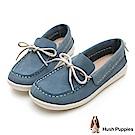 Hush Puppies Albatross 牛皮休閒鞋-水藍
