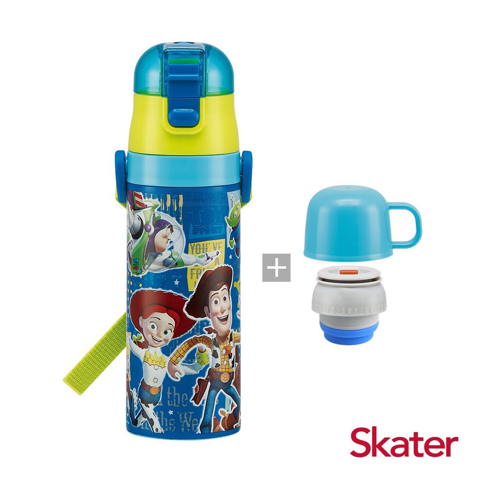 Skater直飲2way保溫水壺(附杯蓋組)玩具總動員-藍