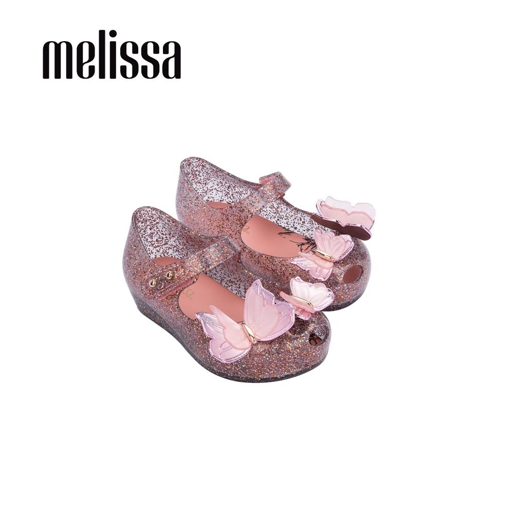 Melissa ULTRAGIRL閃耀立體蝴蝶娃娃鞋 寶寶款- 藕灰