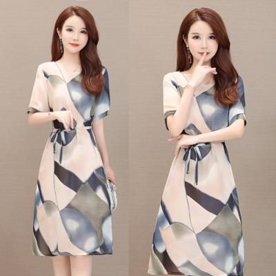 【韓國K.W.】近期熱銷輕柔氣質印花洋裝-2色