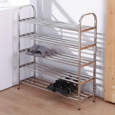 LOGIS 加寬不鏽鋼鞋架 五層架 層架 收納置物架 拖鞋架 鞋櫃