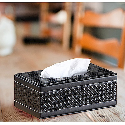 日創優品 皮革面紙盒(小)-編織款