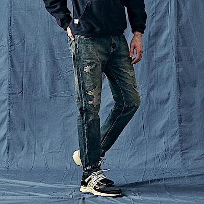 CACO-301補丁款牛仔褲-男【QNA116】