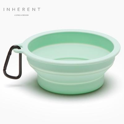 韓國Inherent 馬卡龍折疊輕便碗 寵物碗 狗碗 嫩綠