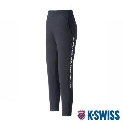 K-SWISS KS Waist Band Capri Pants棉質九分褲-女-黑