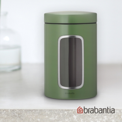Brabantia 視窗儲物罐1.3L(海藻綠)