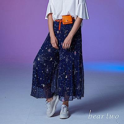 beartwo 夢幻星空舒適寬褲(深藍色)