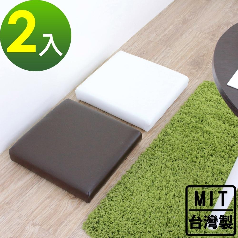 頂堅 寬31公分-厚型沙發(皮革椅面)和室坐墊/沙發坐墊/椅墊(三色可選)-2入組