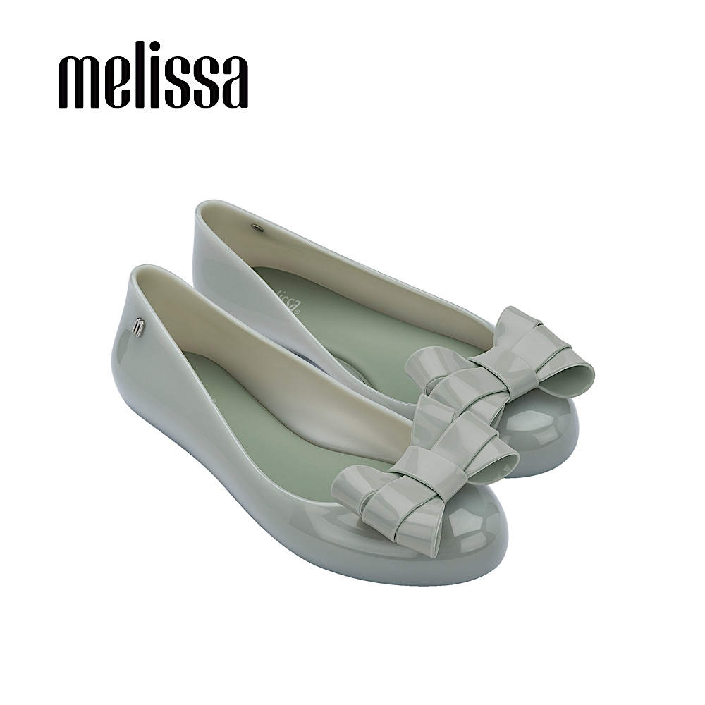 MELISSA  SWEET LOVE 素面立體蝴蝶結平底娃娃鞋-綠