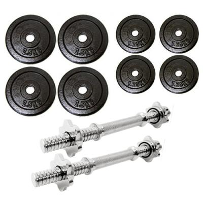 15公斤槓片組(送二支短槓心)  15KG啞鈴組合  15公斤啞鈴