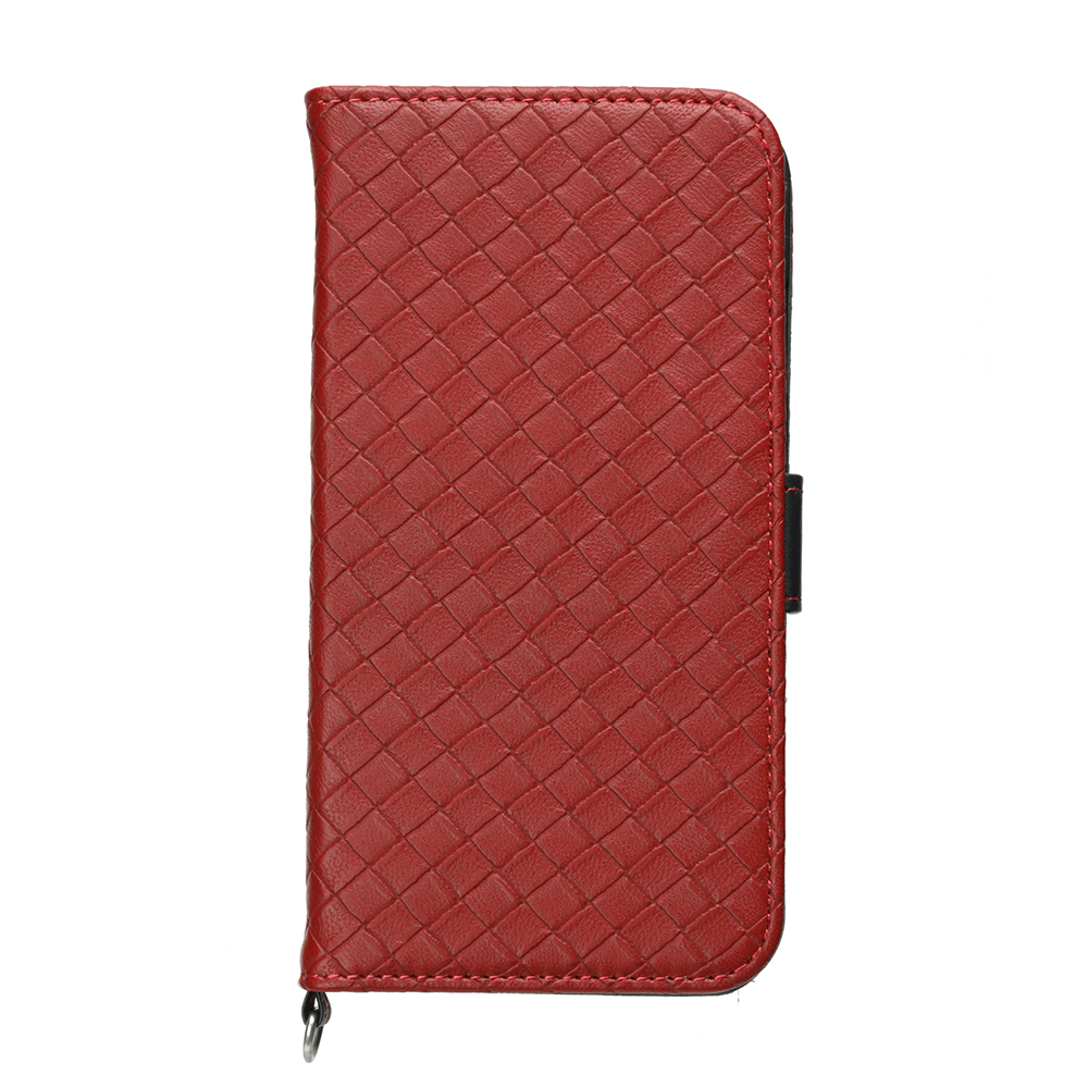 PGA iPhone 6S/6 4.7吋 時尚編織 質感皮革 側翻皮套-紅色