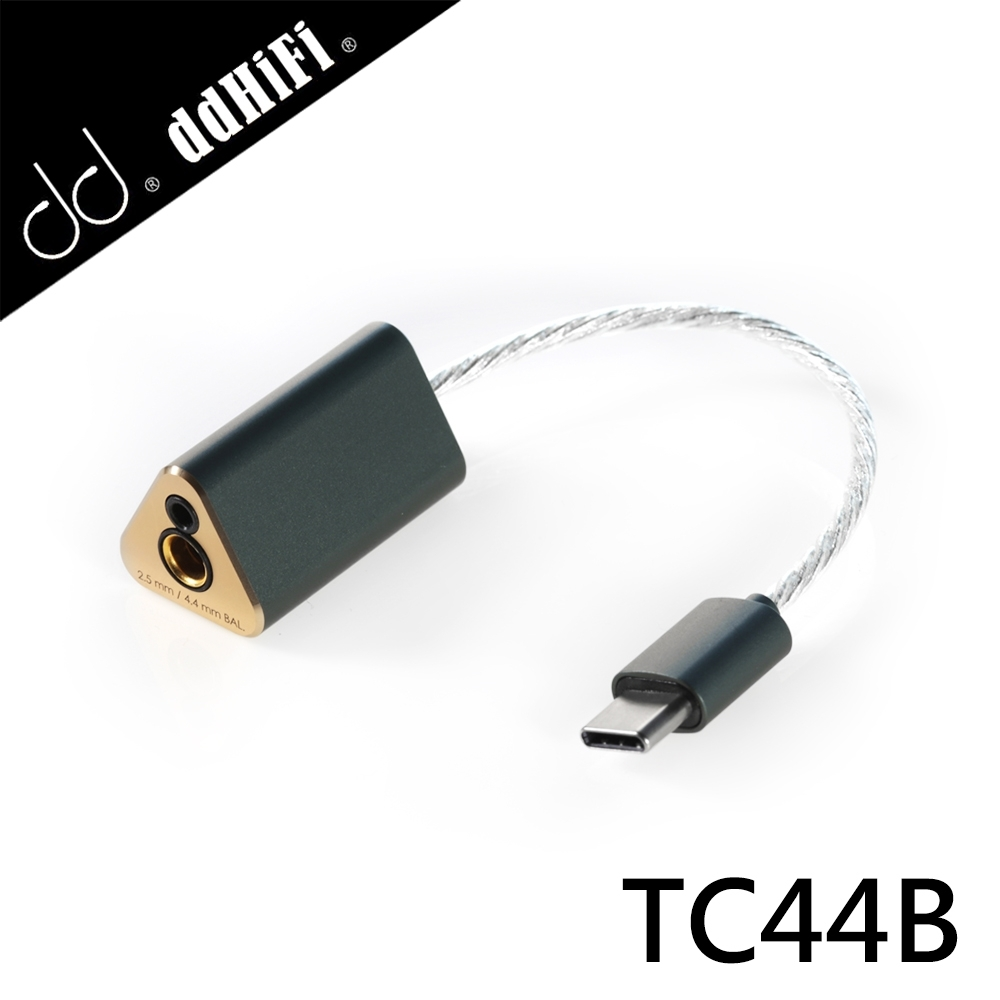 ddHiFi TC44B USB DAC 2.5/4.4mm(母)轉Type-C(公) 雙平衡解碼線