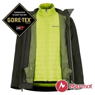 【Marmot】男 GORE-TEX KT二件式外套『深墨綠』 74700-0001