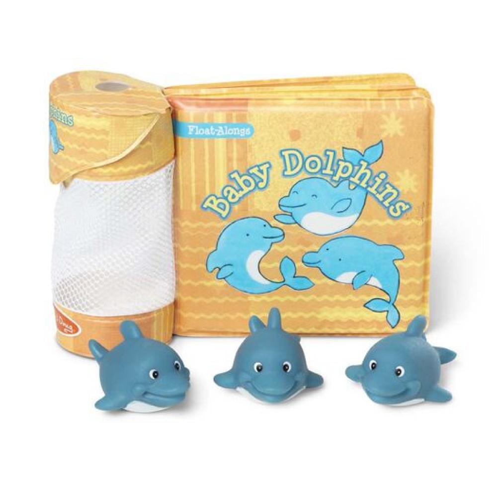 【Melissa & Doug 美國瑪莉莎】洗澡玩具書 - 小海豚
