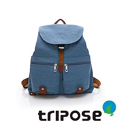 tripose MEMENTO系列微皺尼龍輕量防潑水後背包-大(天空藍)