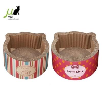 日本Gari Gari Wall(MJU)貓頭造型貓抓板 《點點 條紋》睡窩  (不挑色隨機出貨)