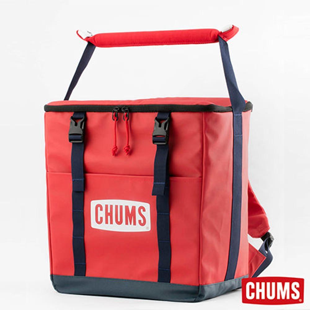 CHUMS 日本 大LOGO 保冷袋(20L) 紅