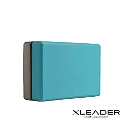 Leader X 環保EVA高密度防滑 亮彩撞色瑜珈磚 藍綠灰