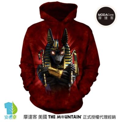 摩達客 美國The Mountain 胡狼戰士 環保藝術長袖連帽T恤