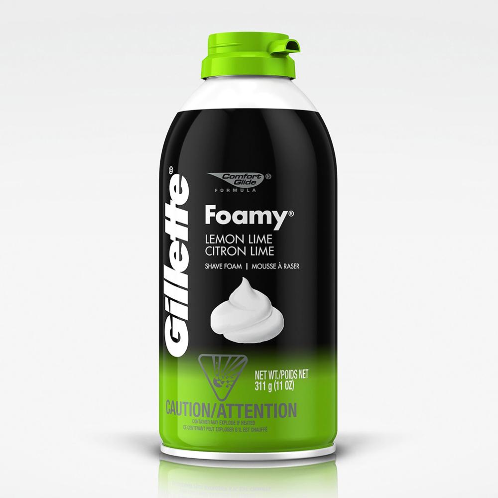美國 Gillette 刮鬍泡-萊姆香/綠瓶(311g/11oz)