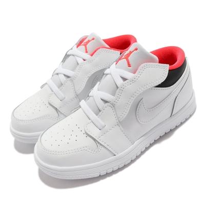 Nike 休閒鞋 Jordan 1 Low ALT TD 童鞋 喬丹一代 魔鬼氈 輕量 舒適 小童 穿搭 白 黑 CI3436-160