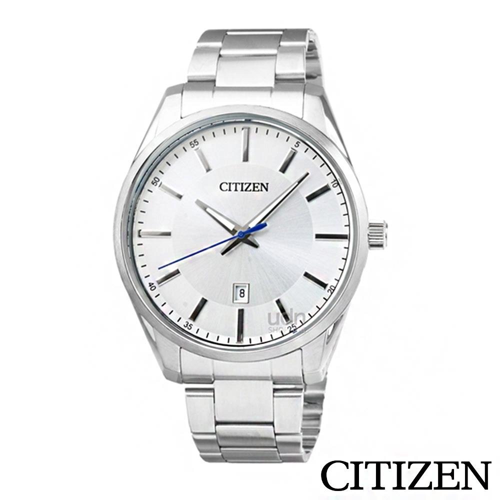 CITIZEN星辰 不鏽鋼錶帶防水石英男錶-銀-BI1030-53A