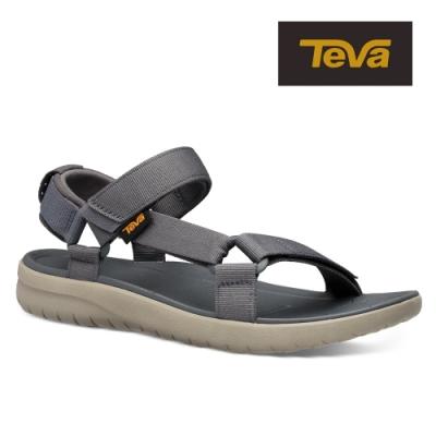 【TEVA】原廠貨 男 Sanborn Universal 輕量織帶涼鞋/雨鞋/水鞋(影深灰-TV1015156DKSW)