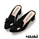 Miaki-穆勒鞋氣質甜美穿搭高跟鞋-黑