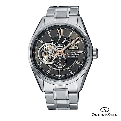 ORIENT STAR 東方之星 OPEN HEART系列 鏤空機械錶 鋼帶款 灰色