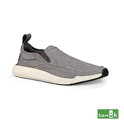 SANUK 率性拉環設計休閒鞋-中性款(灰色)